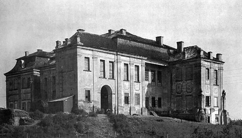 Палац-Любомирських-вид-з-боку-річки-Усті-поч.-ХХ-ст.